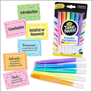 Parts of Paragraph and Speech: Stickers and Highlighter Bundle