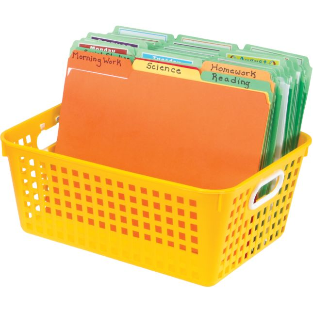 Book Baskets, Large Rectangle - Primary Colors