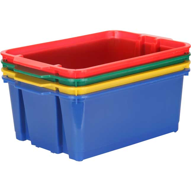Classroom Stacking Bins - Primary Colors