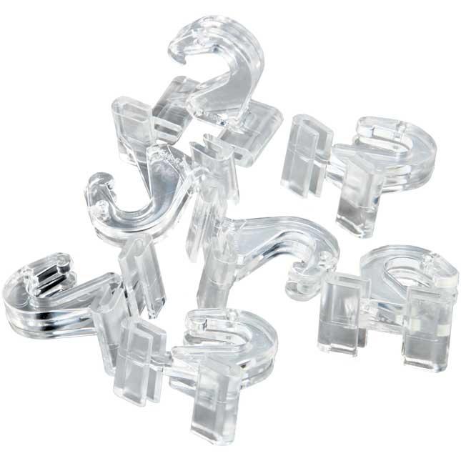 Plastic Ceiling Hooks - set of 10.