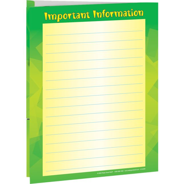 Important Paper Folders - 2 Pocket - 12 Pack