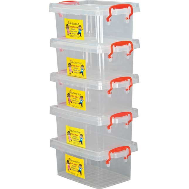 Stackable Storage Tubs With Locking Lid- Small