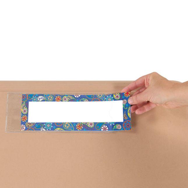 Name Plate Self-Adhesive Vinyl Sleeves - 12 sleeves.