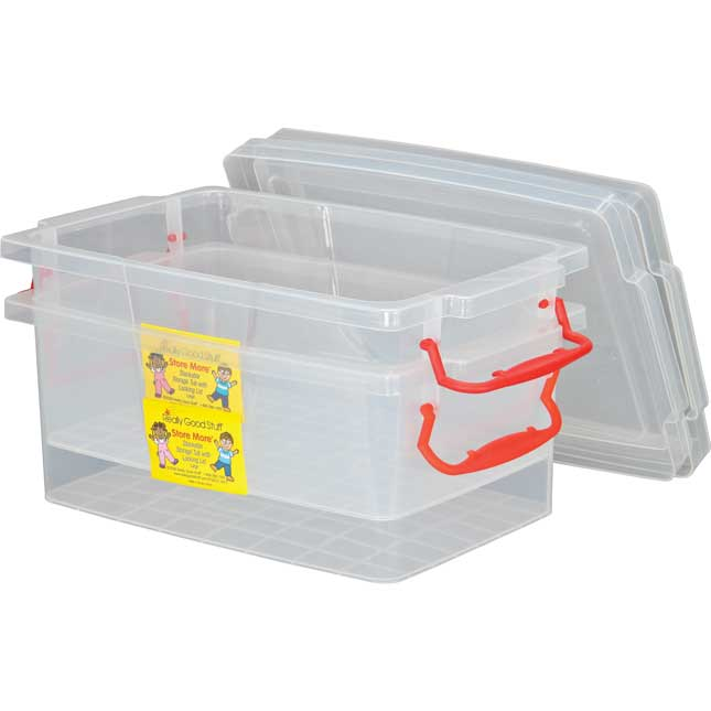 Stackable Storage Tubs With Locking Lids, Large