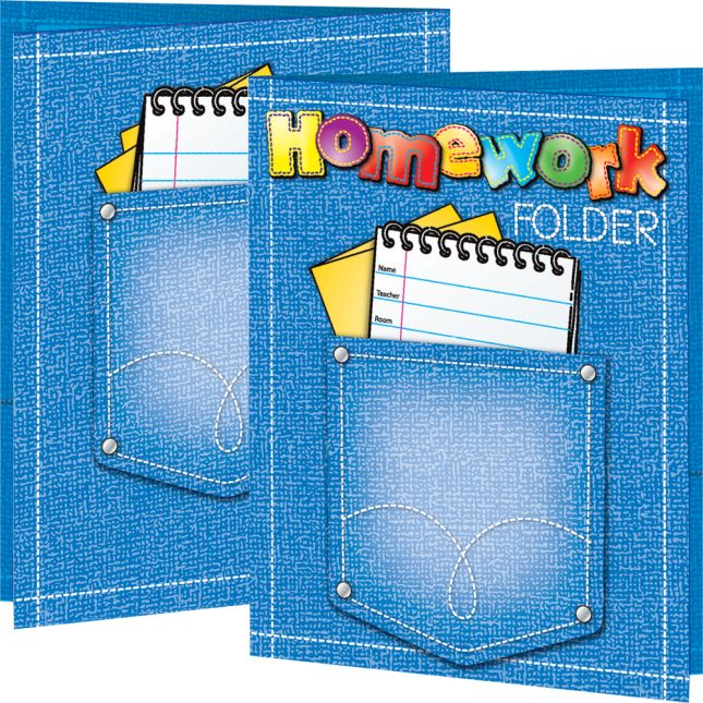 Really Good Homework Folders - 12 folders