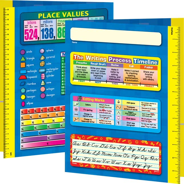Resource Folder - Zaner Bloser - Intermediate - 12 folders