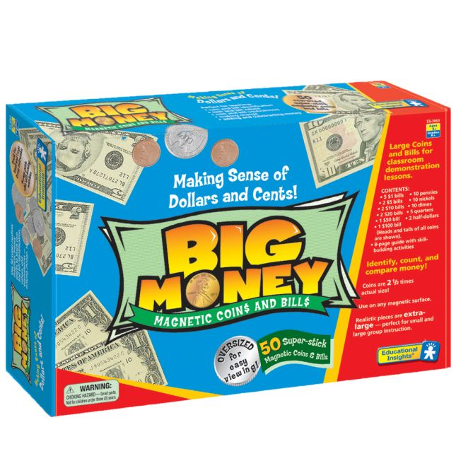 Big Money Magnetic Coins And Bills Set