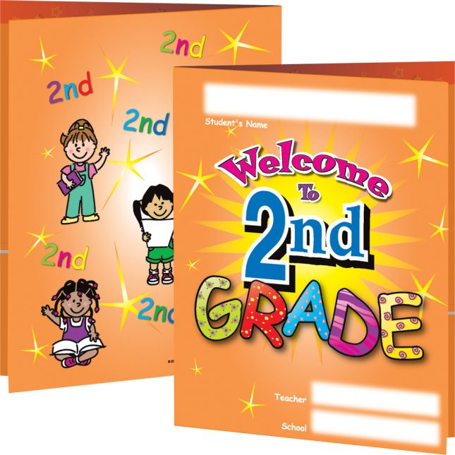 Welcome To Second Grade Folders - 12 folders
