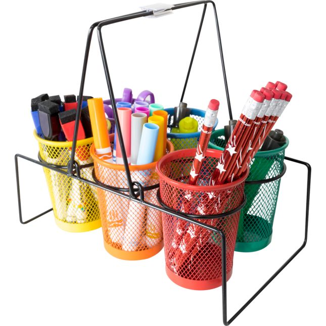 Store More® Wire Works Classroom Supply Caddy - 1 caddy, 6 cups