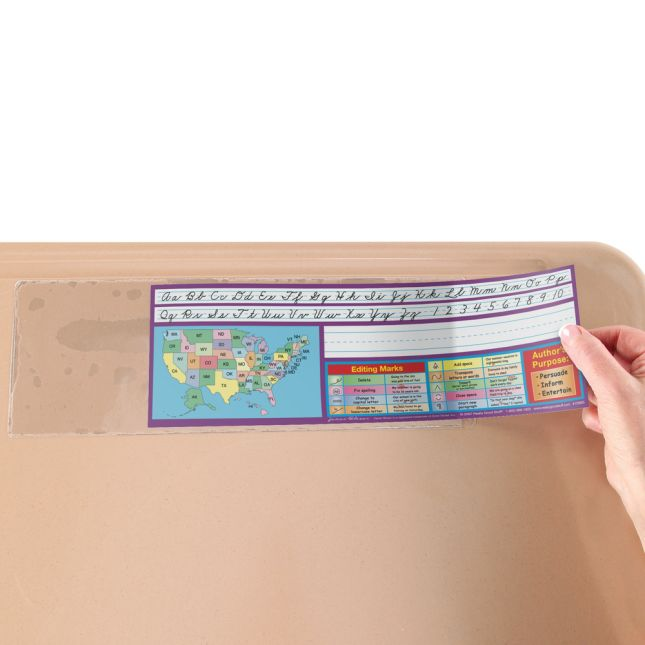 Zaner-Bloser Intermediate Two-Sided Cardstock Desktop Helpers™ With Sleeves - Set Of 12