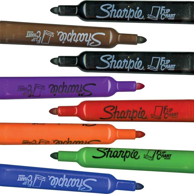Sharpie® No Bleed Flip Chart Markers - 8 markers