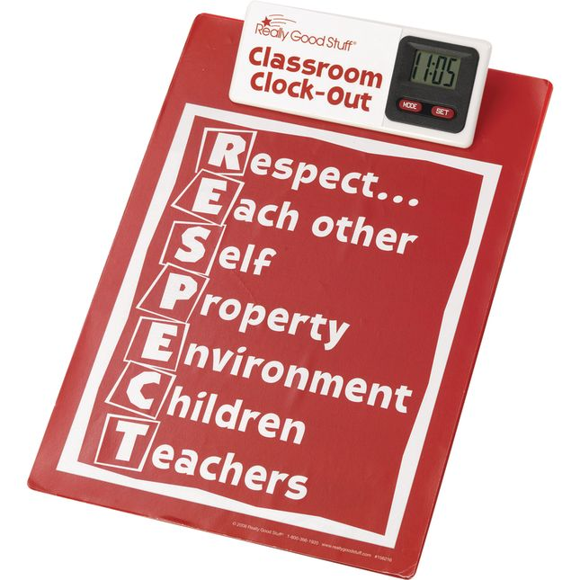 Classroom Clock Out Clipboard