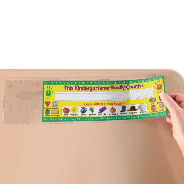 Zaner-Bloser Kindergarten Two-Sided Cardstock Desktop Helpers™ With Sleeves - Set Of 12