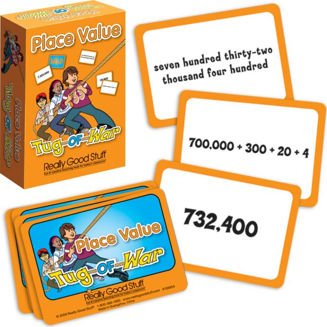 Really Good Tug Of War The Mathematical Place Value Card Game