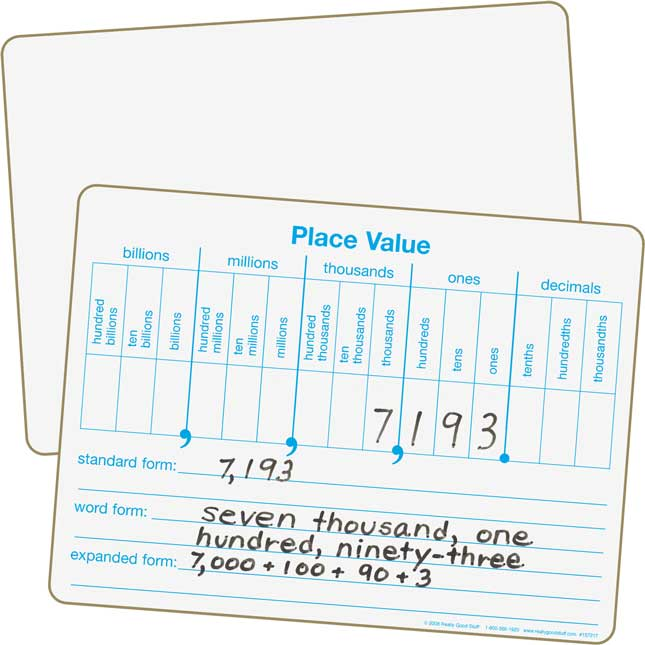 Place Value Dry Erase Board Set_0