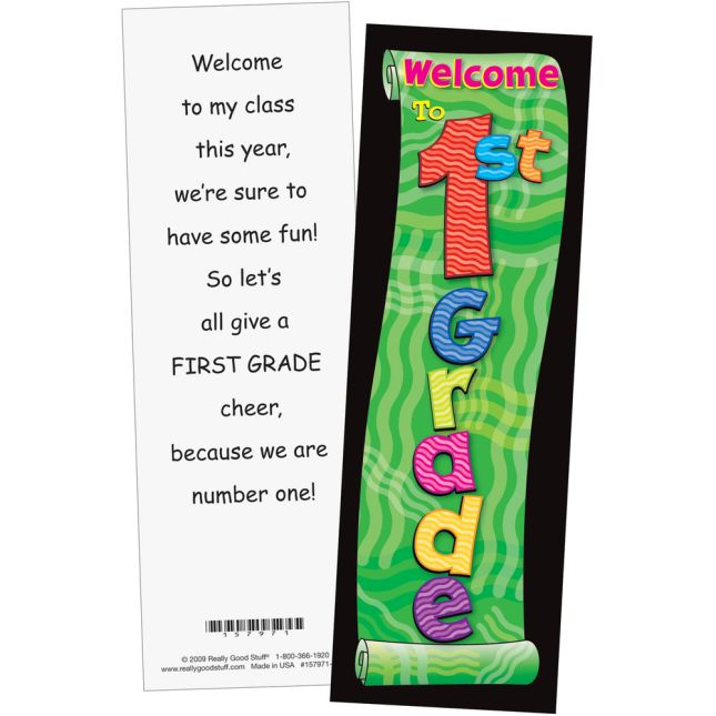 Grade-Specific Welcome Bookmarks - 32 bookmarks