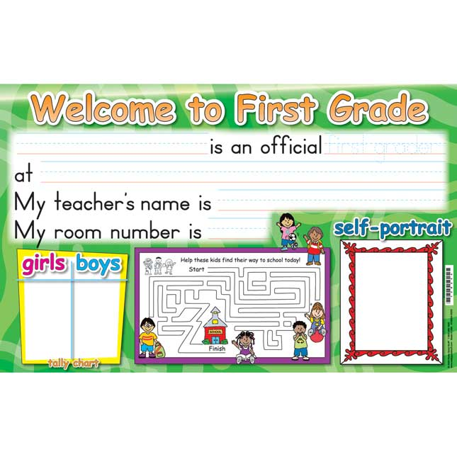 Grade-Specific Welcome Deskmats
