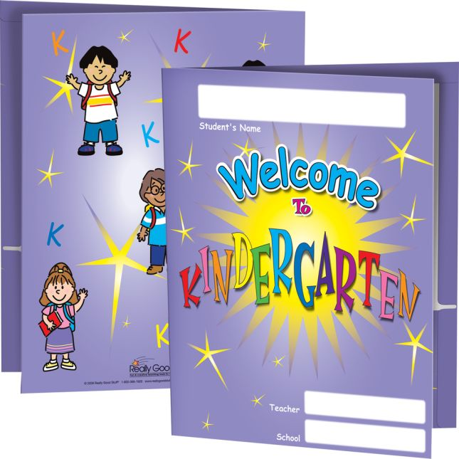 Welcome Folders - Kindergarten