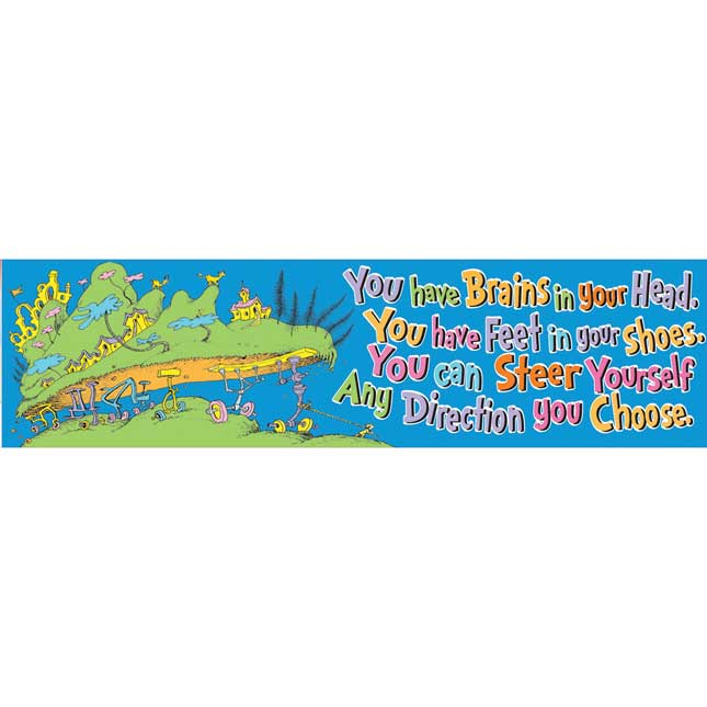 You Have Brains In Your Head - Oh, The Places You'll Go!™ Banner
