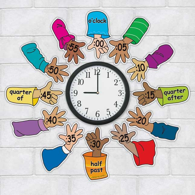 Helping Hands Around The Clock - 12 pieces