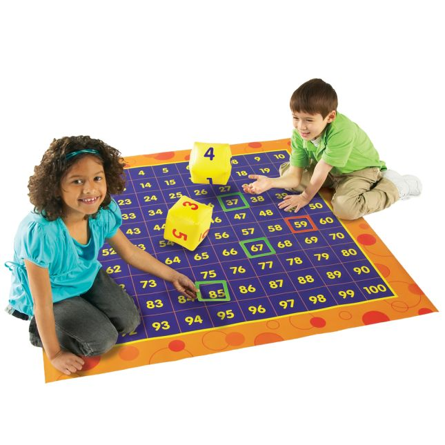 Hip Hoppin' Hundreds Mat Floor Game