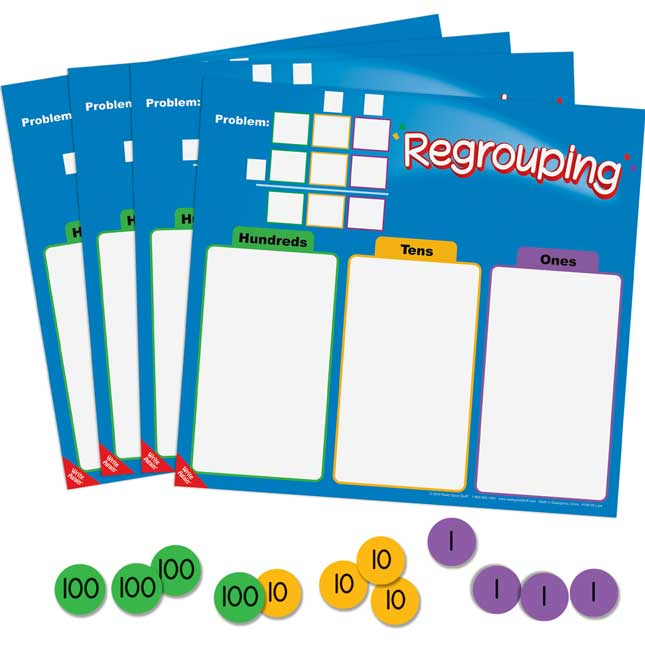 Regrouping Mats And Manipulatives Kit
