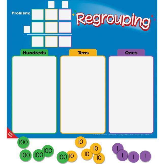 Regrouping Mats And Manipulatives Kit - 4 mats and 216 chips