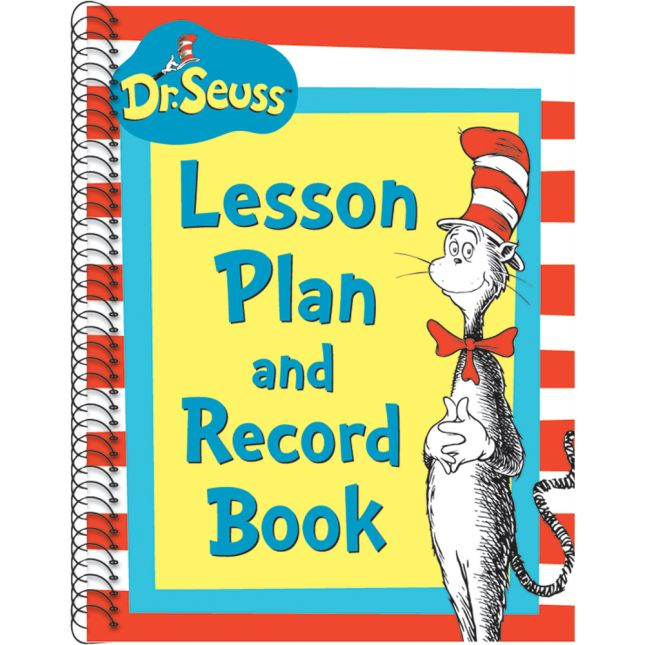Dr. Seuss™ Cat In The Hat Lesson Plan Record Book