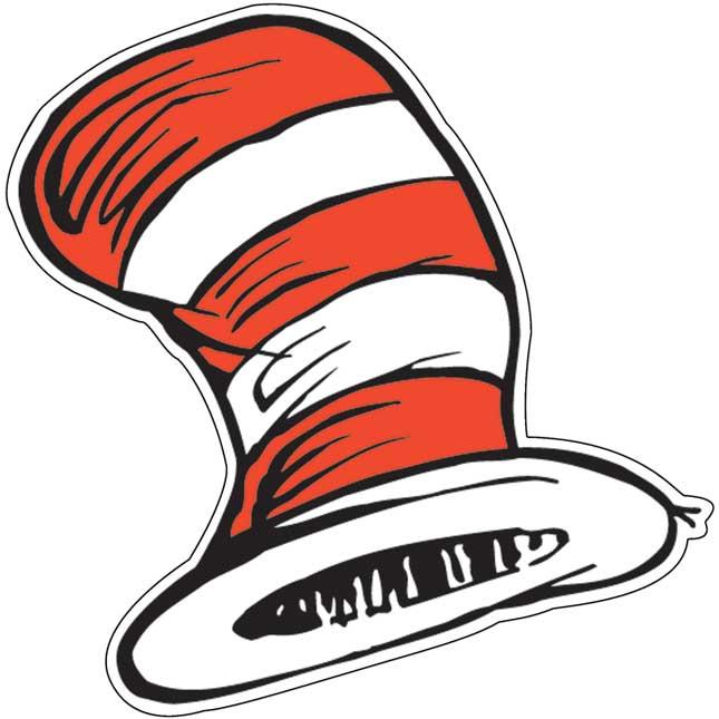 Dr. Seuss™ The Cat's Hat Paper Cut-Outs - 36 paper cut-outs