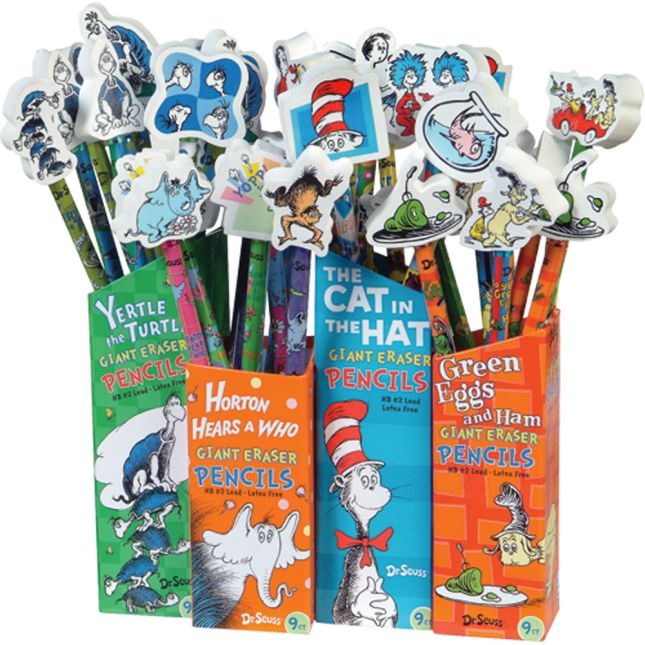 Dr. Seuss™ Giant Eraser Pencils - 36 pencils