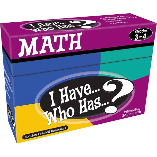 I Have...Who Has...? Math Cards - Grades 3-4 - 4 card decks