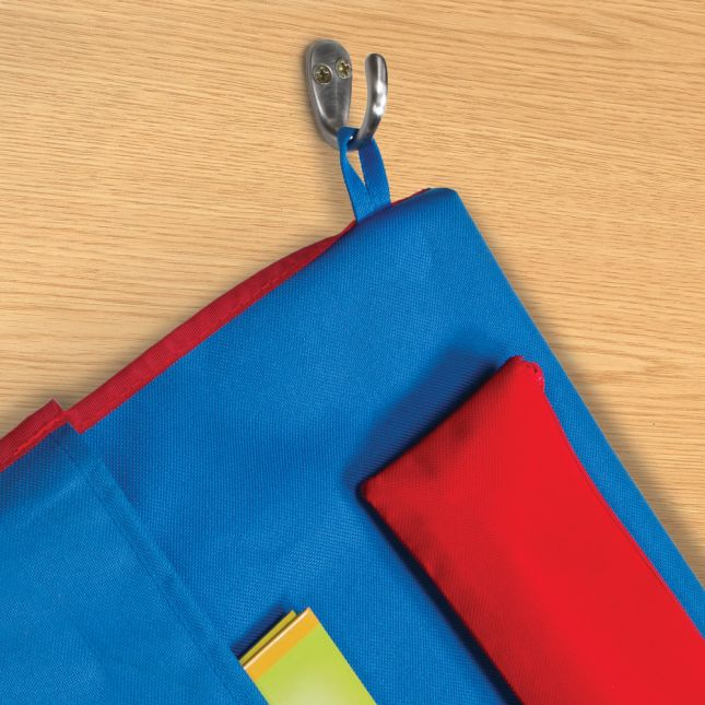 Deluxe Chair Pockets with Pencil Case - 36 Pack - Blue/ Red