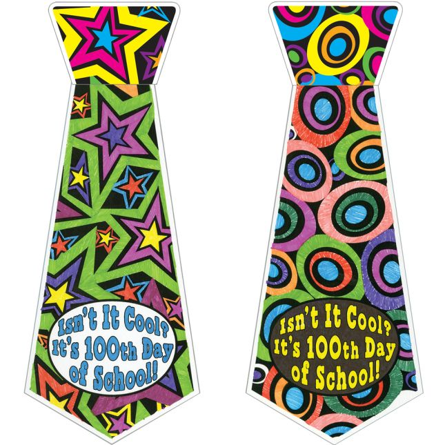 Ready-To-Decorate® Isn't It Cool? It's 100th Day Of School! Ties