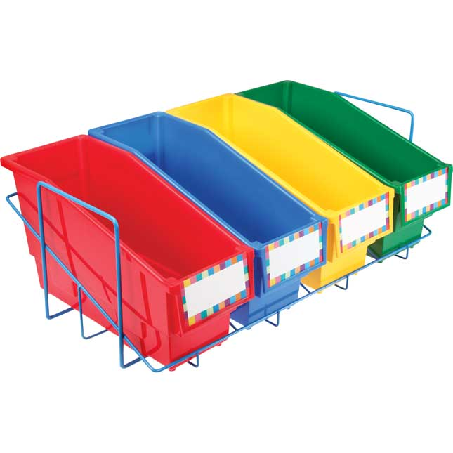 Store More® Book And Binder Holder With Stabilizer Wing Storage Rack (Bins Not Included)