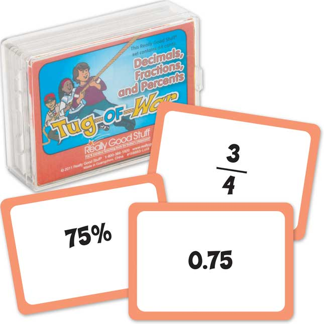 Really Good Tug-Of-War Decimals, Fractions, And Percents - 1 deck_0