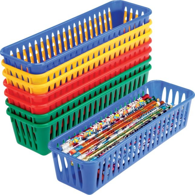 Pencil and Marker Baskets - Primary Colors