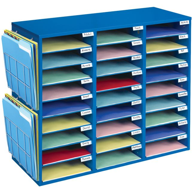 Really Good Classroom Mail Center With Paper Holders
