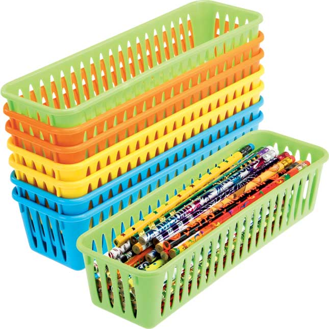 Pencil and Marker Baskets - Neon Colors