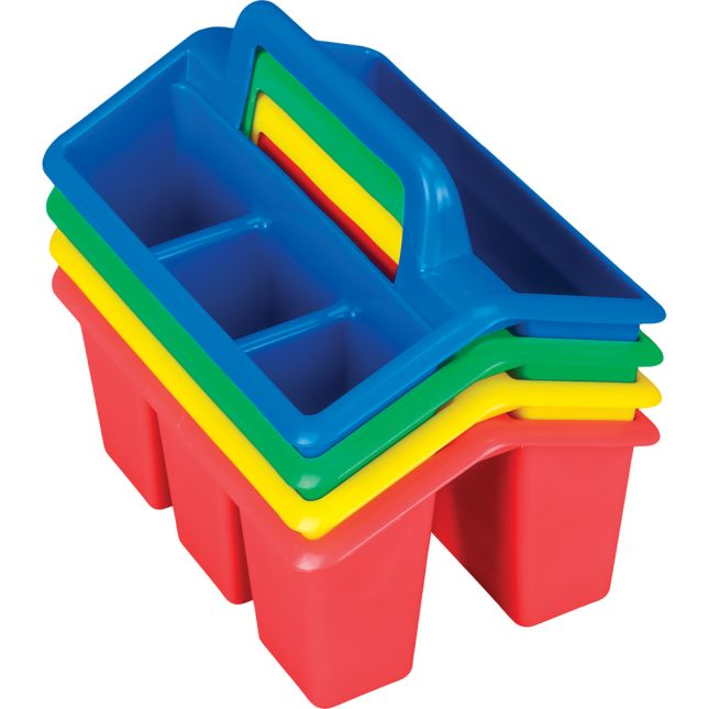 Four-Compartment Caddies - Primary Colors