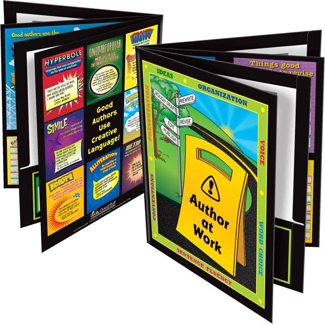 Author At Work 4-Pocket Folders - Set Of 12