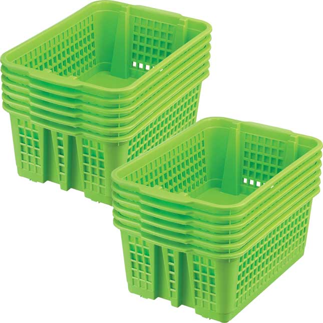 Classroom Stacking Baskets - Medium - Single-Color Set Of 12