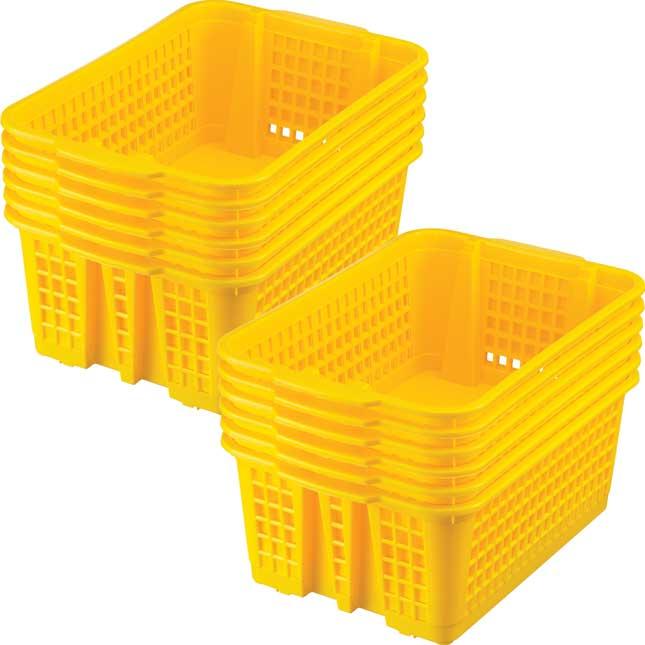 Classroom Stacking Baskets - Medium - Single-Color Set Of 12