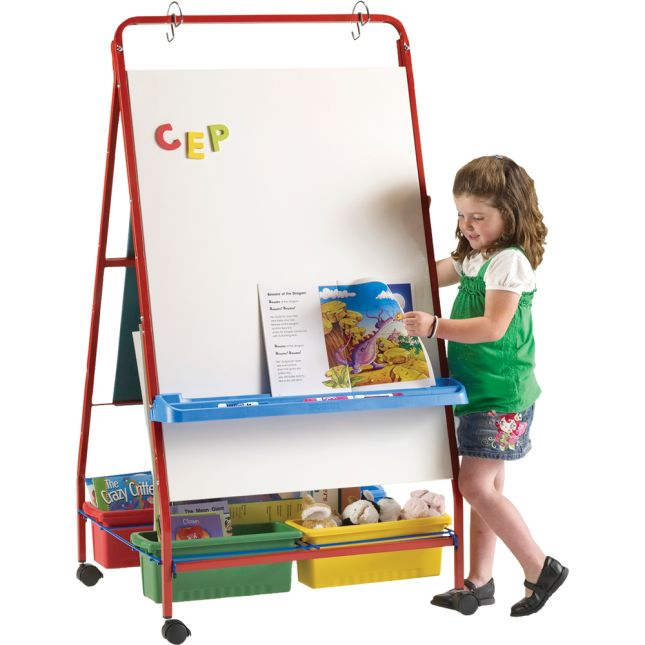 Primary Teaching Easel - 1 dry erase easel with accessories