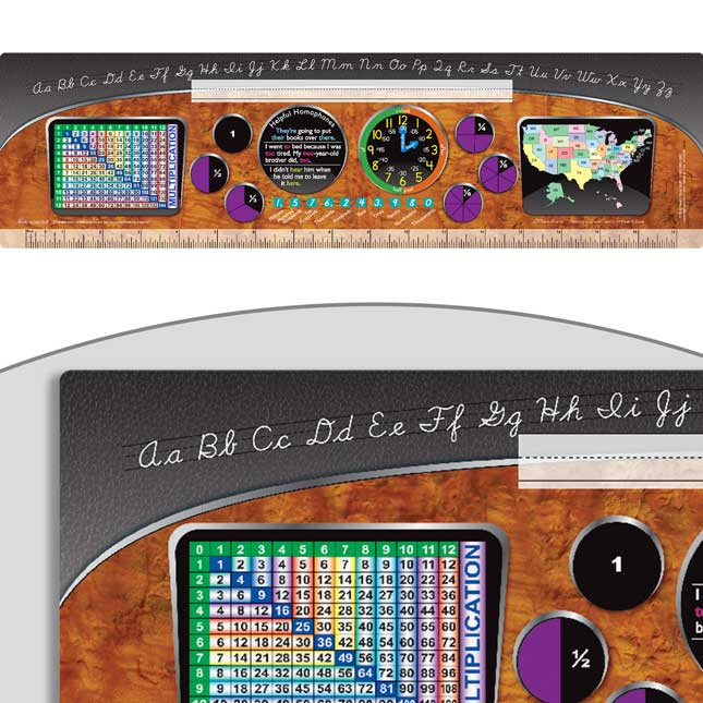 D'Nealian Intermediate Dashboard Self-Adhesive Vinyl Desktop Helpers™- Set Of 24