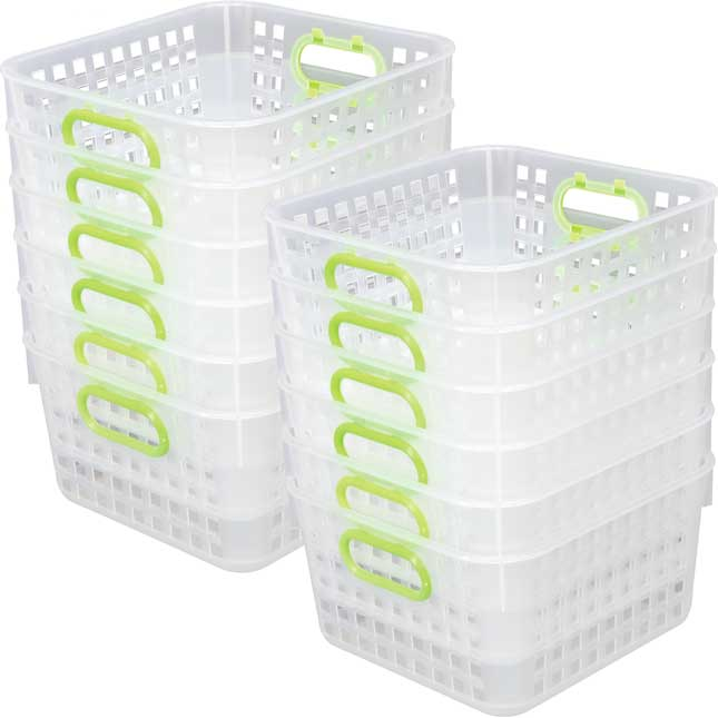 Book Baskets, Square Clear