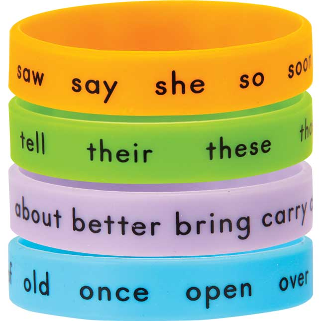Sight Word Bracelets Set