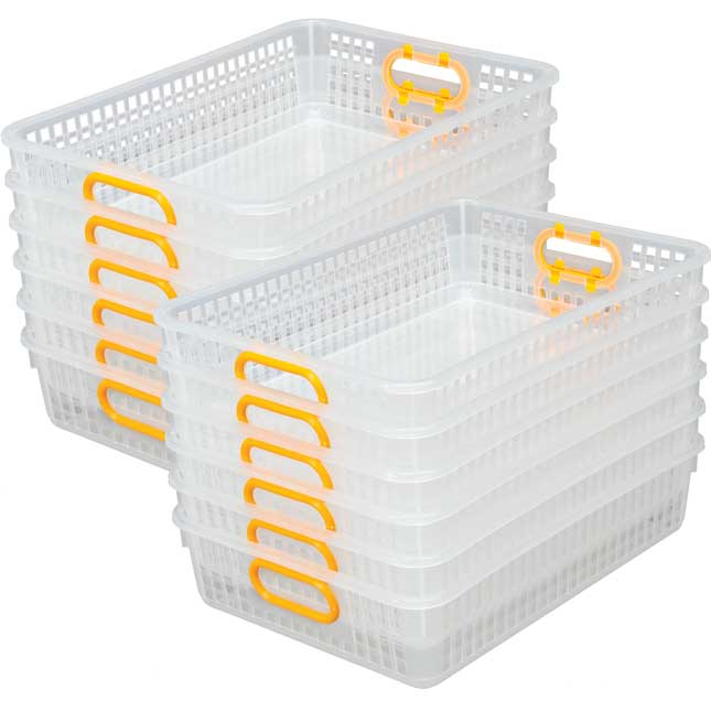 Classroom Paper Baskets Clear