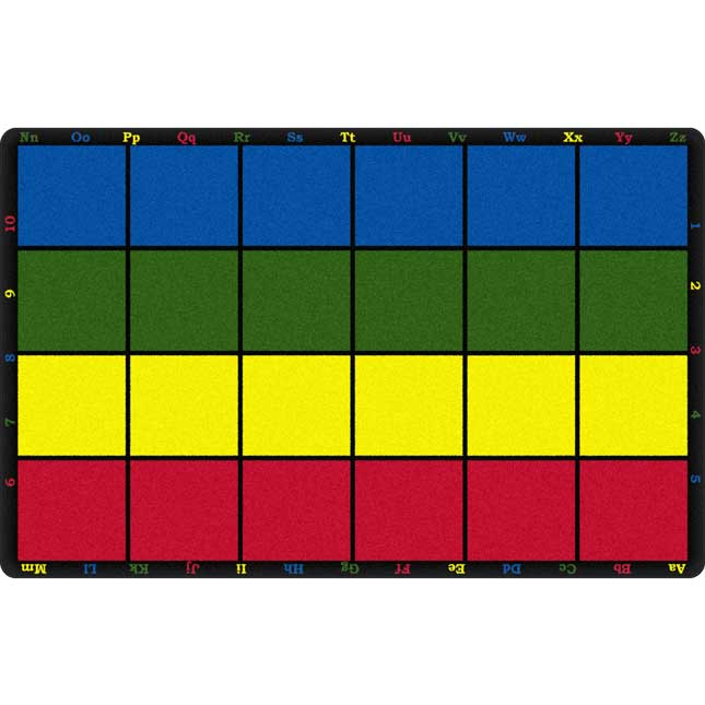 """Learning Grid Rug - 7' 6"""" By 12'"""