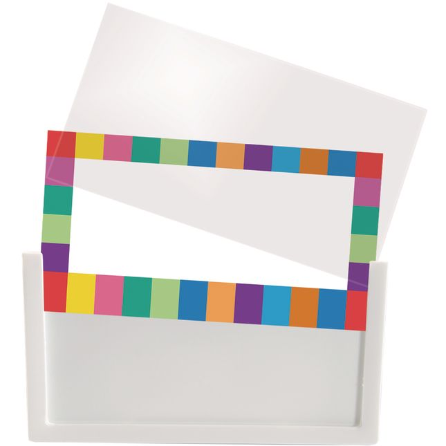 5-Pack Universal Label Holders With Labels