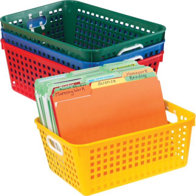 Really Good Active Learning Center™ - Blue With Primary Baskets And Label Holders